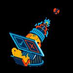 [可商用]手绘卡通科技通信机器人宇宙外星人人物场景B_flame插图10