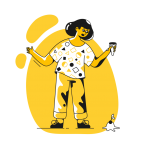 [可商用]黄色脑洞大开创意手绘卡通人物生活场景插画B_taxi插图17