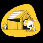 [可商用]黄色脑洞大开创意手绘卡通人物生活场景插画B_taxi插图23