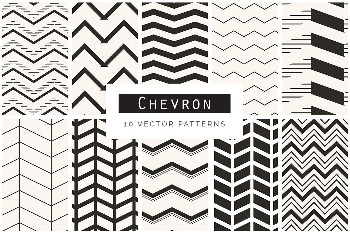 创意工艺品包装T恤几何无缝图案集背景纹理Geometric Seamless Patterns Bundle
