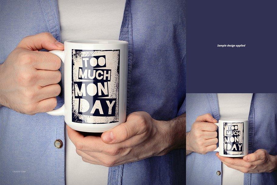 马克杯多角度样机白色杯子套装MOCKUP White Mug Mockup Set 2486596