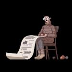 [可商用]手绘卡通职场女人男人快递员科学家旅行家庭人物设计素材 B_eastwood插图16