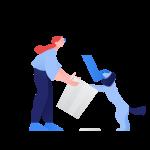 [可商用]手绘卡通职场教育人物家庭场景设计素材B_clip插图9