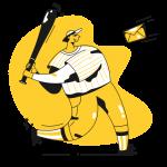 [可商用]黄色脑洞大开创意手绘卡通人物生活场景插画B_taxi插图6