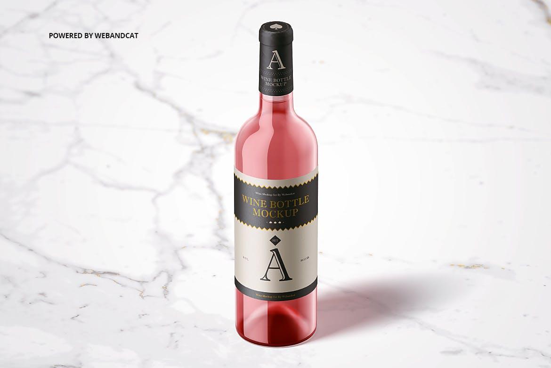 玻璃酒瓶样机红酒瓶子贴设计展示样机素材下载[PSD] wine-bottle-mockup-ZS6MX7P