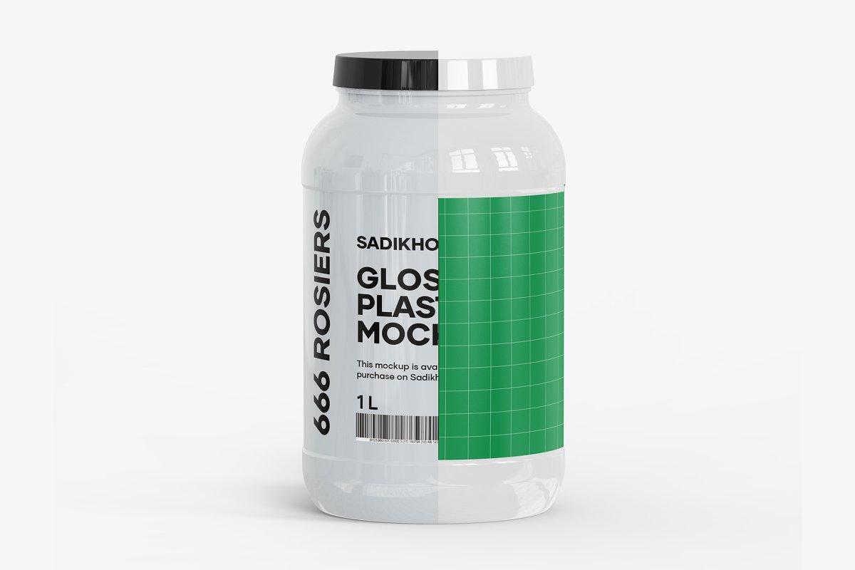 塑料罐子外观设计大塑料瓶子样机模板