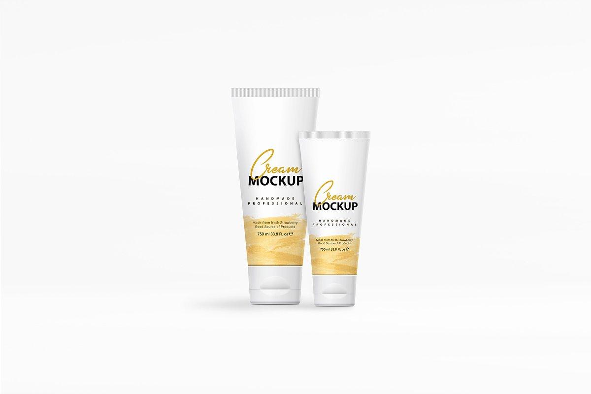 护肤化妆品外观设计软管洗面奶包装样机