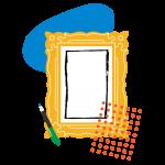 [可商用]手绘卡通电视机灯泡手机二维码汽球窗户望远镜物品插画B_rush插图9