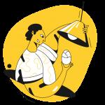 [可商用]黄色脑洞大开创意手绘卡通人物生活场景插画B_taxi插图12