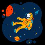 [可商用]手绘卡通科技通信机器人宇宙外星人人物场景B_flame插图17