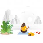 [可商用]手绘卡通职业人物生活场景工作旅游插画设计素材B_fogg插图34