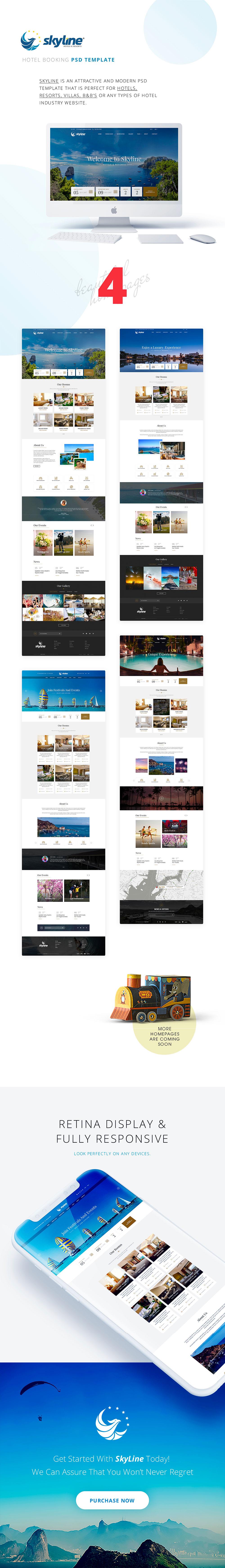 高端酒店网页UI模板下载[PSD] SkyLineHotel_main-files