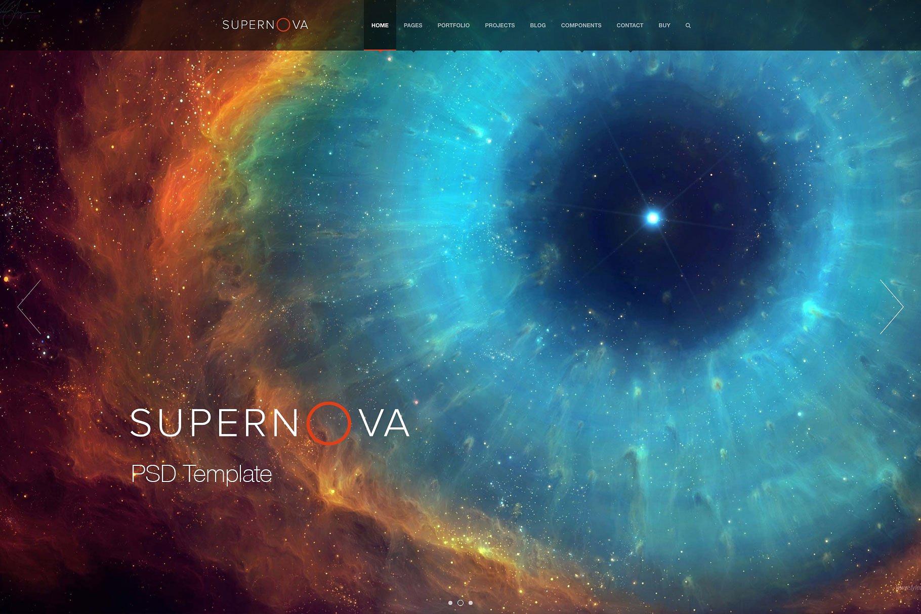 多功能现代风格网页模板 Supernova – PSD Template (Pro) Supernova - PSD Template