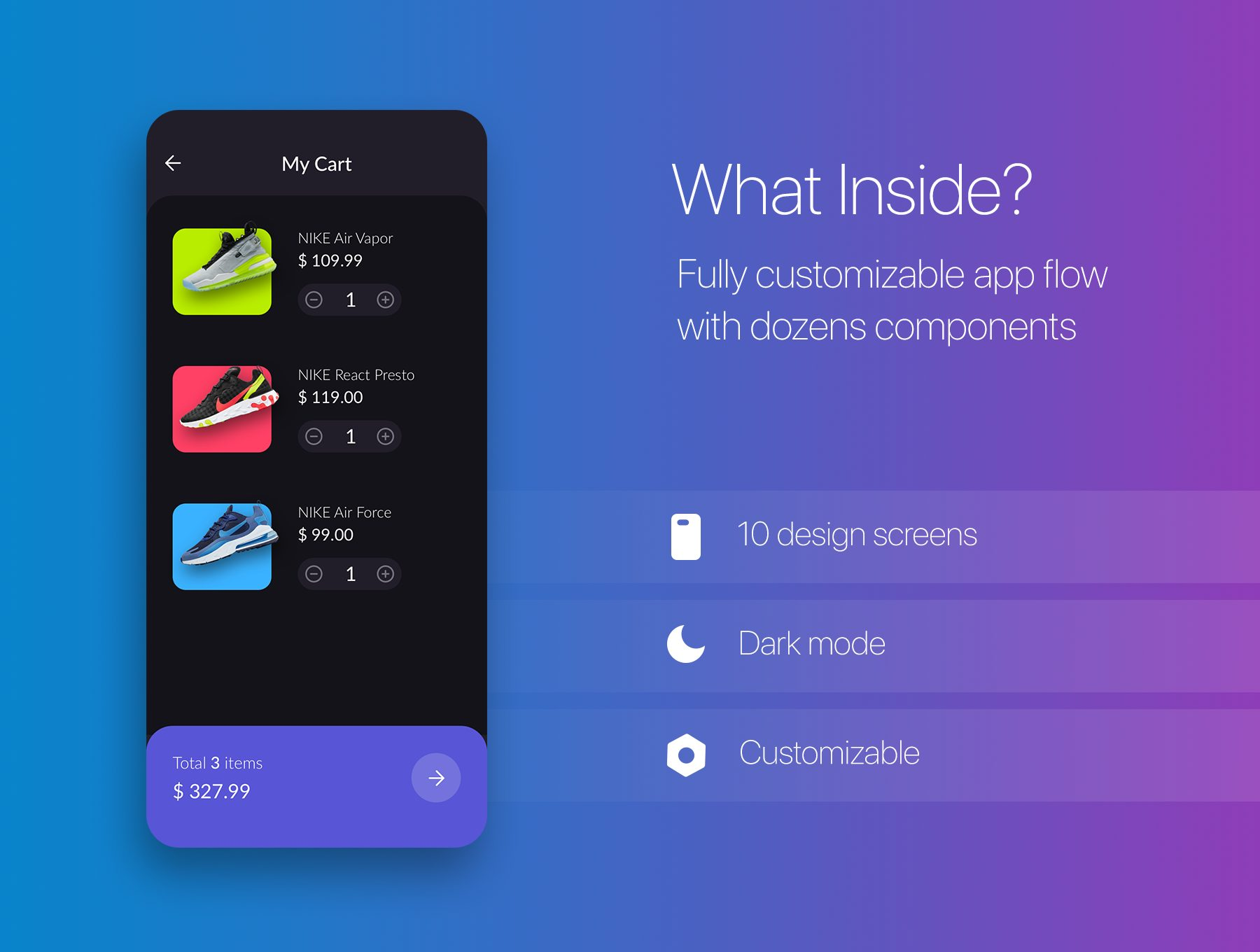 时尚的运动商品电商APP UI KIT下载[Sketch] N Lite Commerce UI Kit