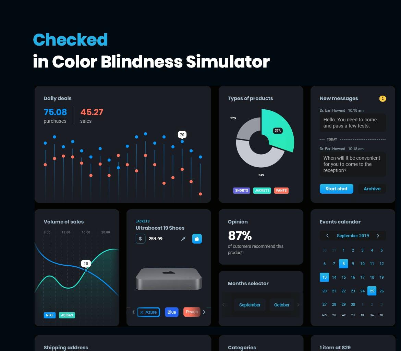 多格式高品质的黑色配色的高品质用户界面UI KITS大集合 dark-cards-user-interface-kit
