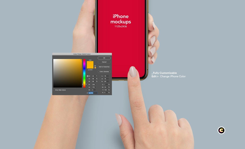 苹果手机样机手势iPhone 11样机 APP UI样机mockups