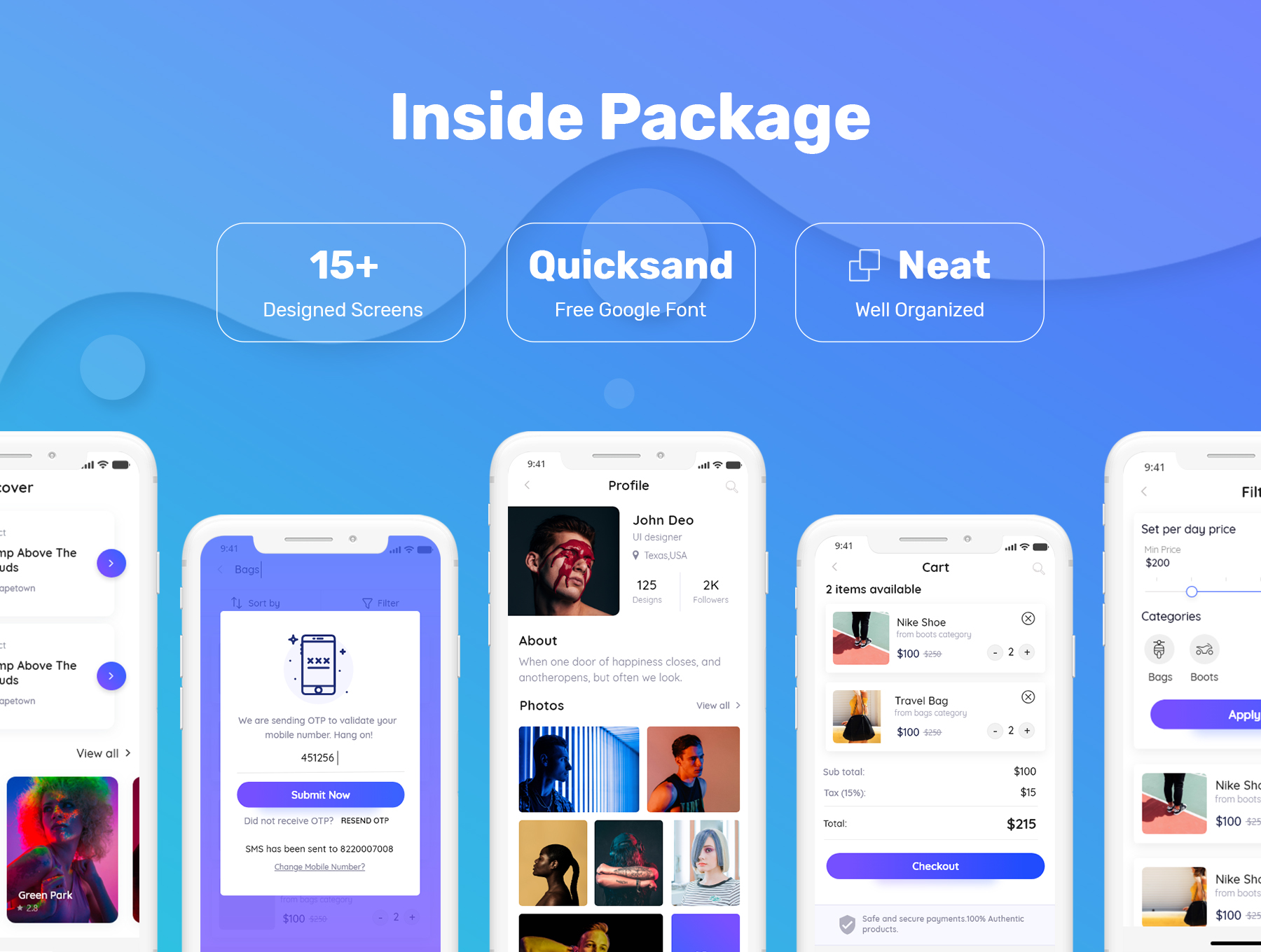 优秀的电商APP UI KIT套装下载[XD,PSD] Pride-E-Commerce-Mobile-App-UI-Kit