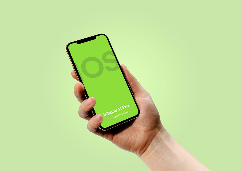 最新苹果手机样机iPhone 11 Pro 手持手机样机下载iphone-11-pro-mockup-vol-02-3TLU9CS