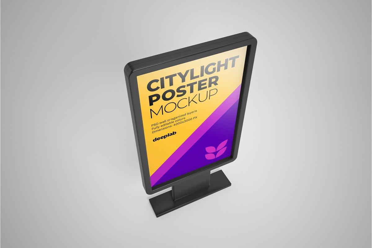 海报展示样机逼真的城市海报广告牌设计样机集Citylight Poster MockupSet 4430473