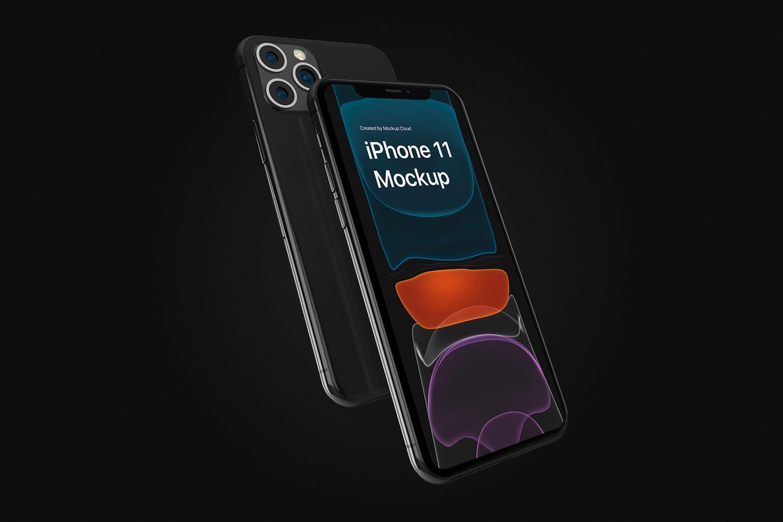 苹果手机高品质样机 iPhone 11 Pro APP UI样机展示模型iphone-11-pro-mockup-kit