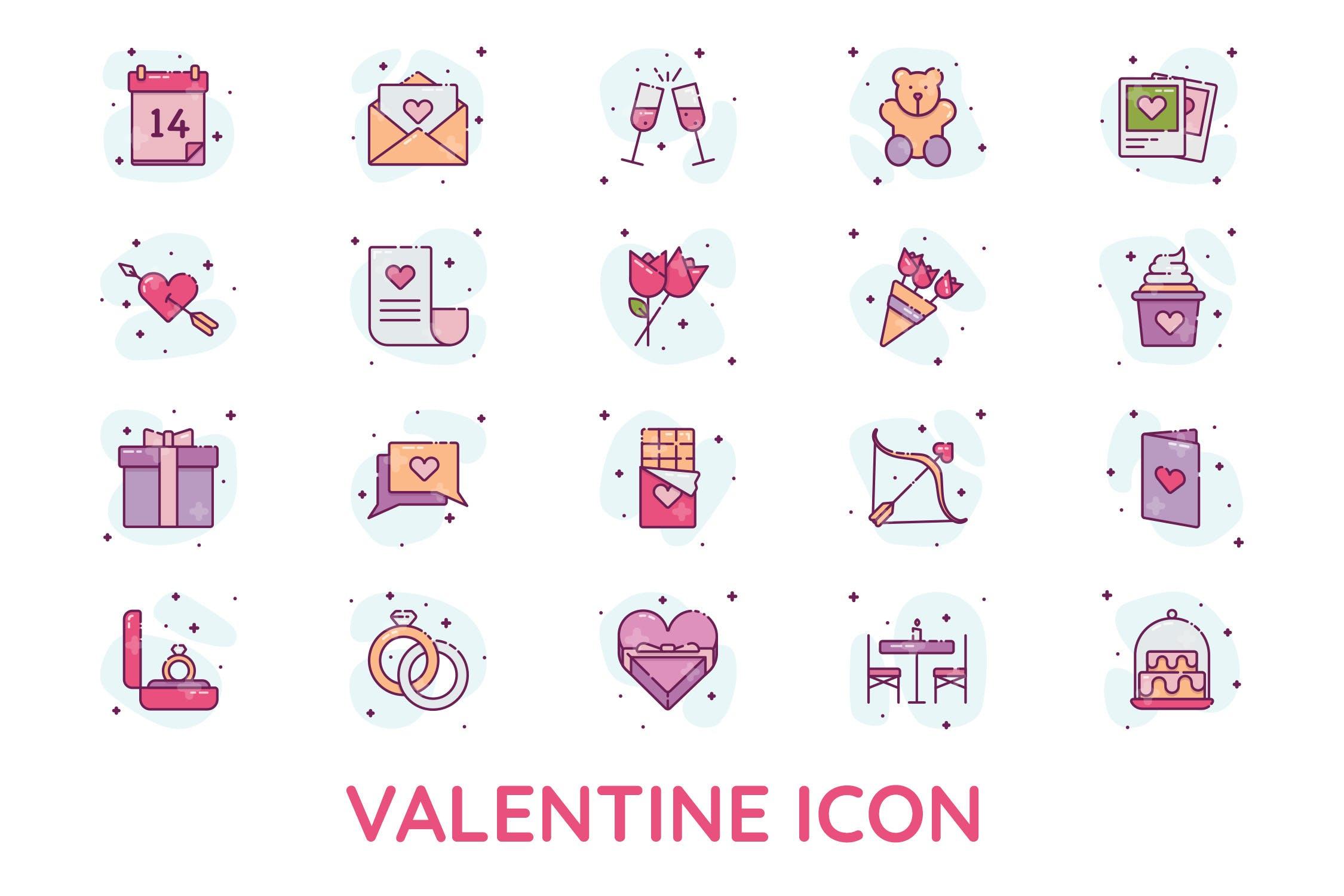 多用途情人节矢量图标设计素材下载valentine-icon-28DU8JC