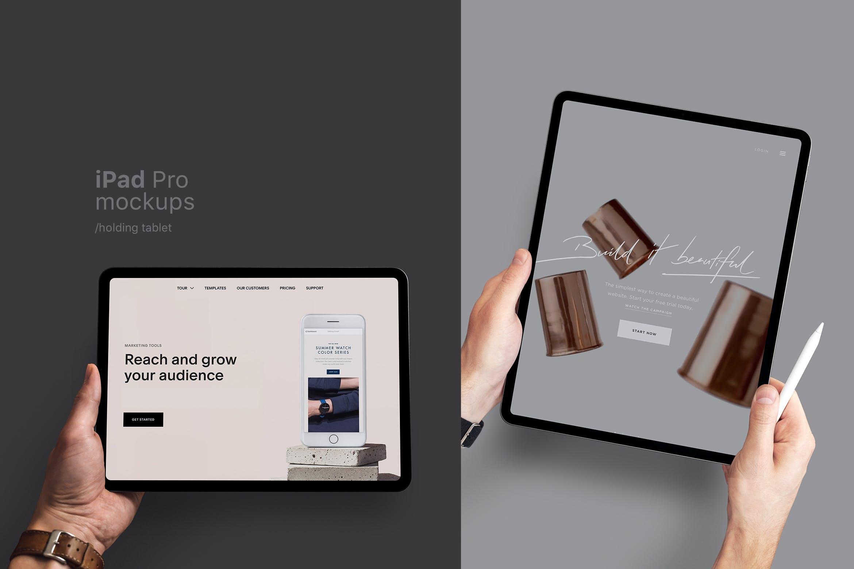手持苹果平板电脑样机 iPad Pro 场景样机素材下载ipad-pro-mockup-EYGHALF