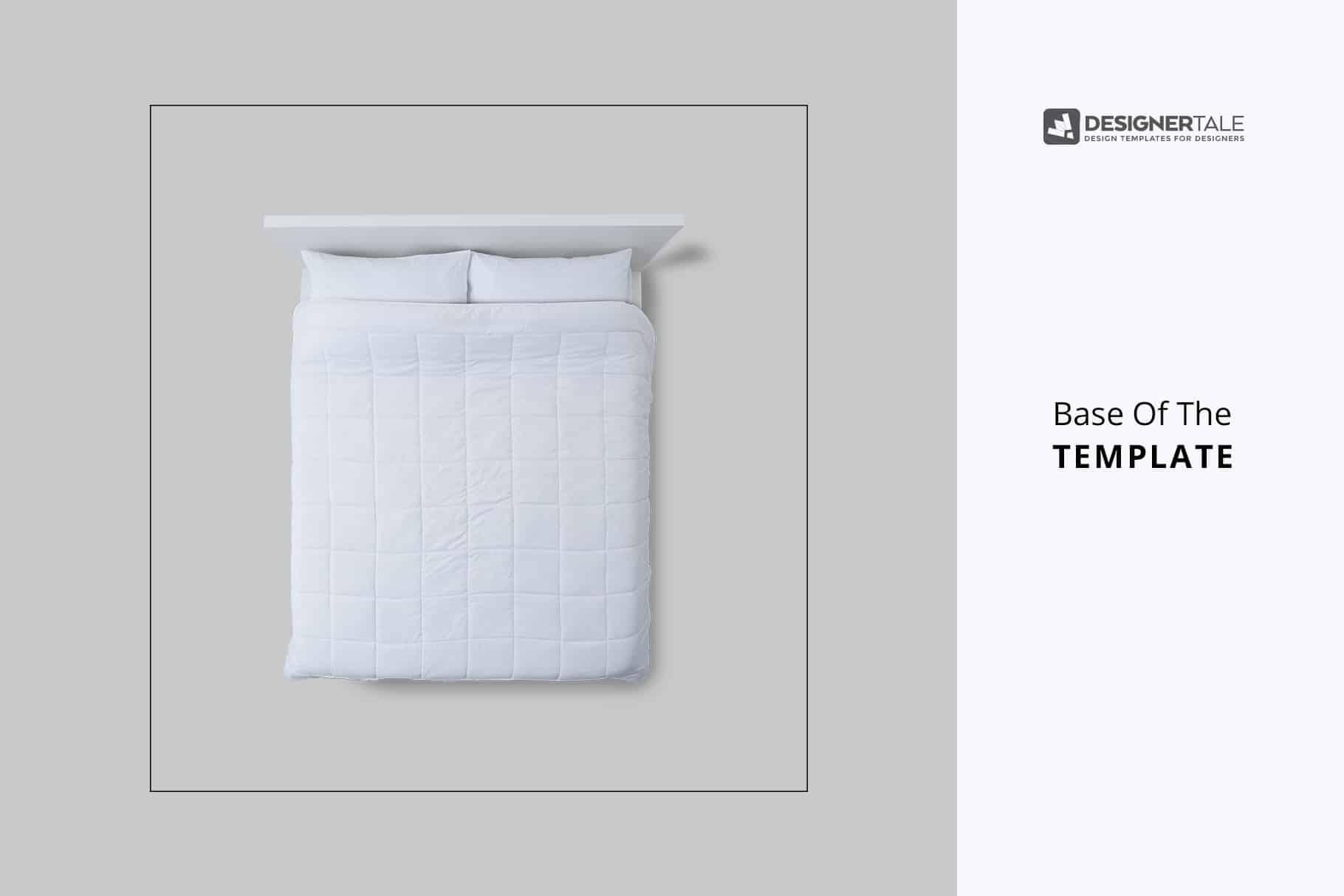 四件套床单样机模板床上用品印花图案设计样机模板queen-size-bed-linen-mockup