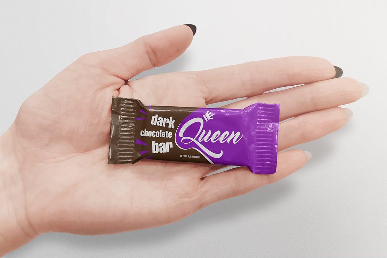 高端糖果包装展示mockups专业巧克力食品包装设计VI样机展示模型chocolate-bar-mockup