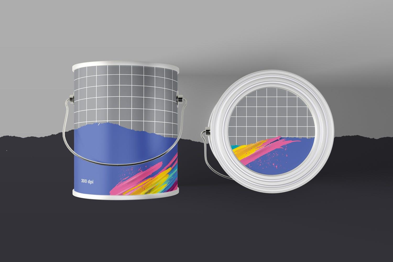手提桶样机油漆罐mockups包装设计样机paint-can-mockups-B6JG88N