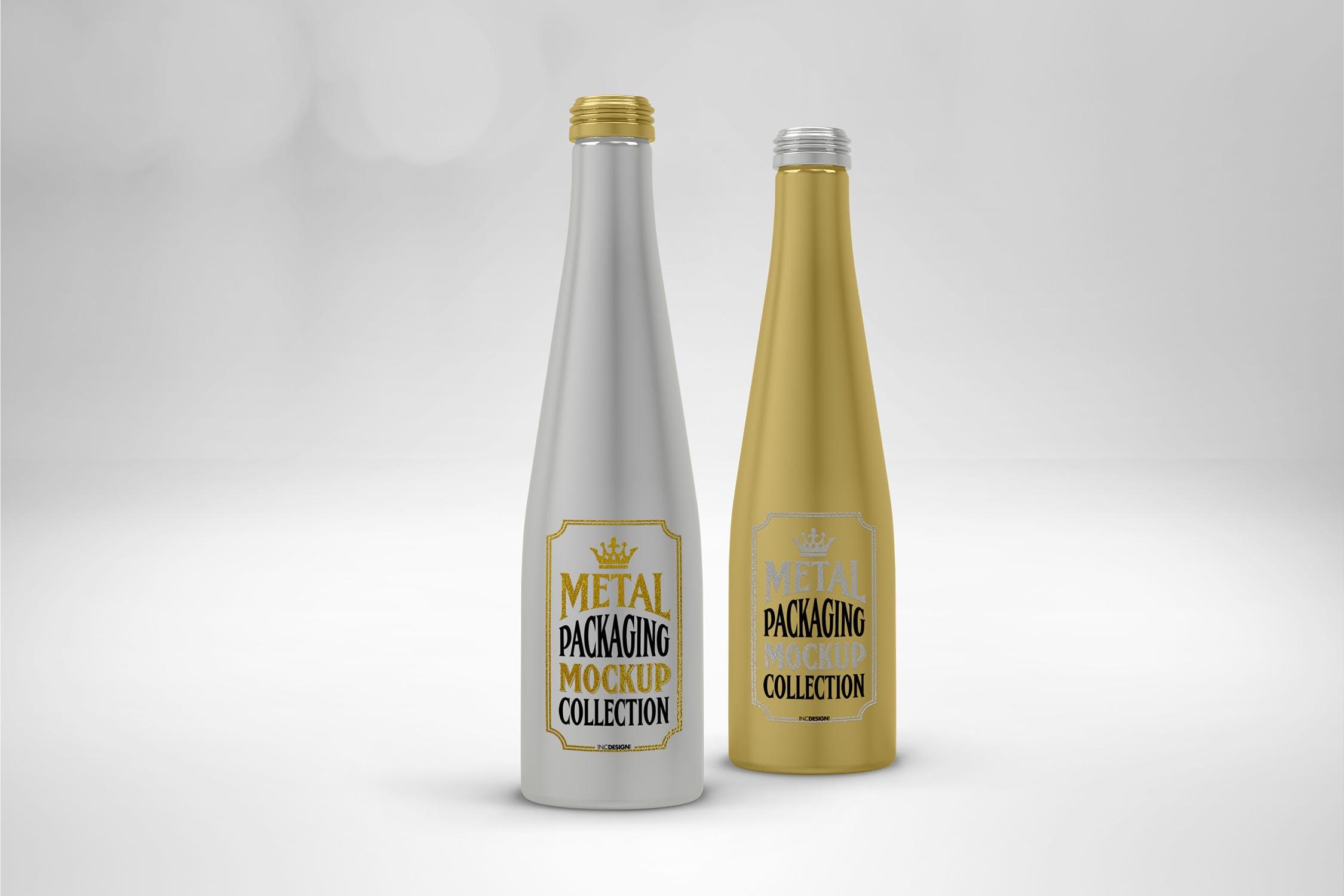 铝制酒瓶子包装样机高端碳酸饮料包装设计样机下载aluminum-drink-bottles-VKZJ6ZJ
