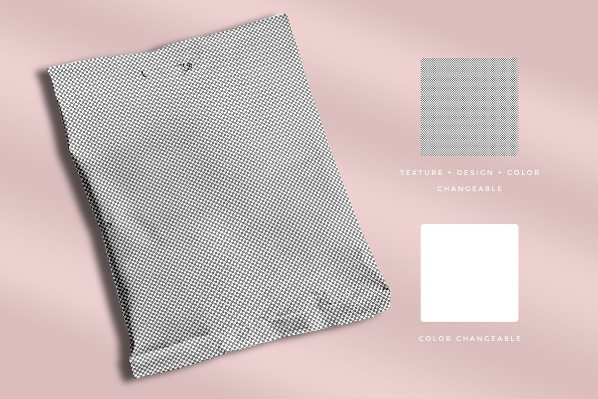 零食袋食品塑料袋包装设计智能样机模板Snack Pouch Packaging Mockup