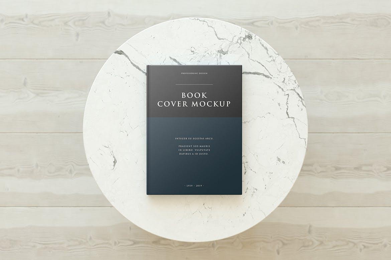 清新时尚优雅高端专业的书籍装帧封面设计VI设计样机展示模型mockups book-cover-mockup