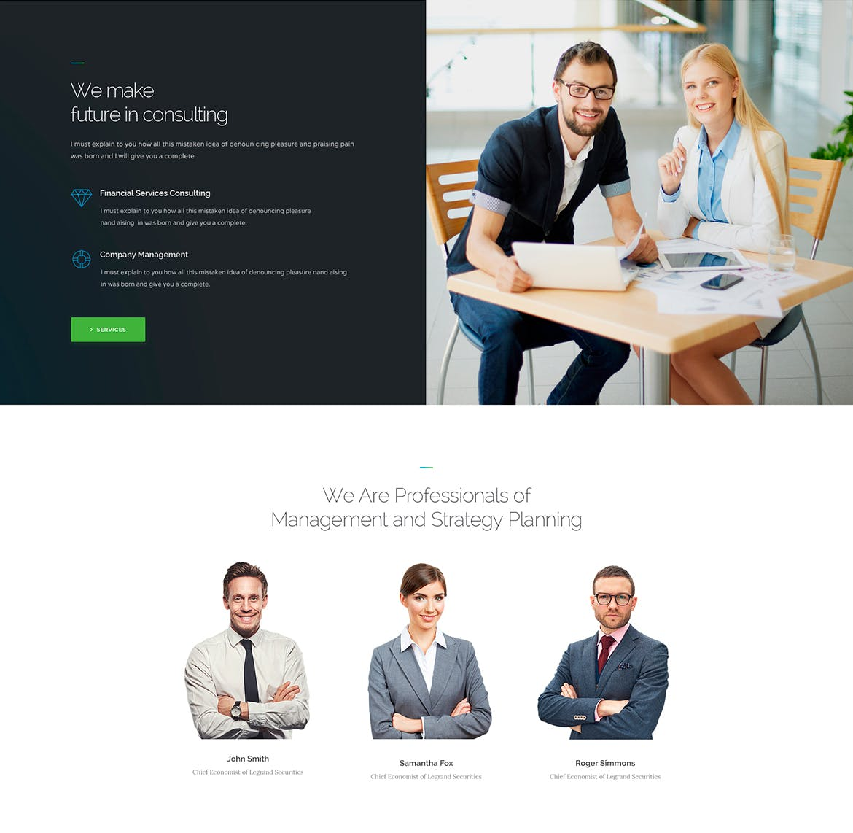 高端专业的高品质商业商务网站设计模板(psd)legrand