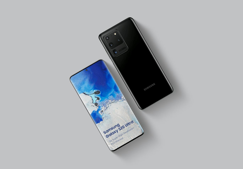 时尚高端专业的三星Galaxy S20展示样机Mockups Galaxy samsung-galaxy-s20-ultra-mockup-1-0