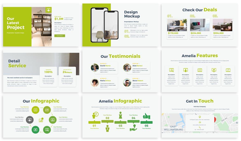 清新时尚简约多用途的高品质业务主题演讲keynote幻灯片演示模板(key)amelia-business-keynote-template