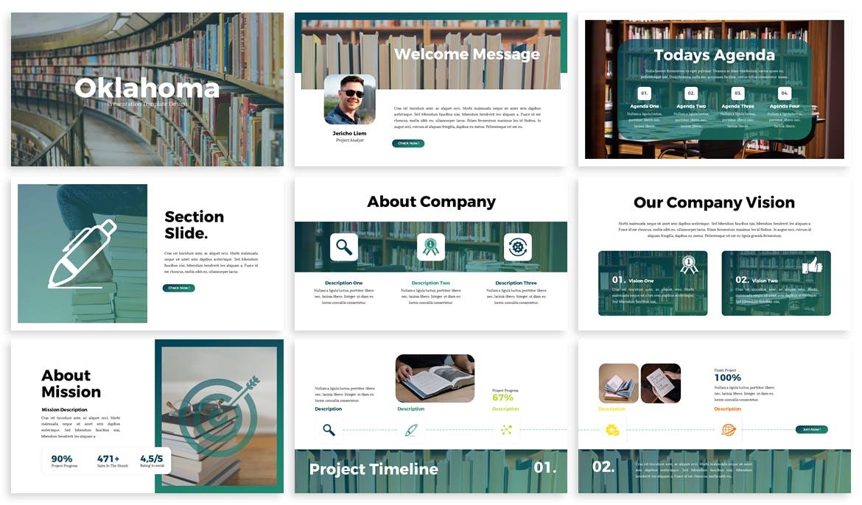 时尚高端多用途的主题业务keynote幻灯片演示模板(key)oklahoma-business-keynote-template
