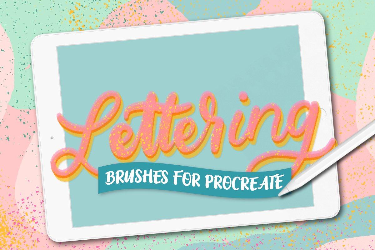 10款甜美流线型笔刷Procreate字母字体笔刷Procreate Lettering Brushes 3714773