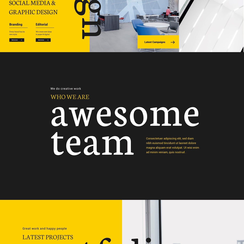 后台设计数据统计表格分析设计和营销机构UI设计-网站模板[Ai,PSD]design-marketing-agency-website-MEMCB7C