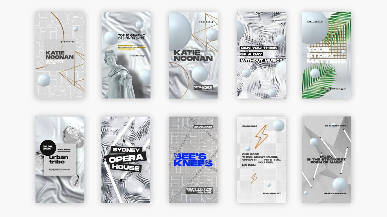 时尚高端专业高品质多用途社交媒体banner海报设计模板集合(psd) white-instagram-pack