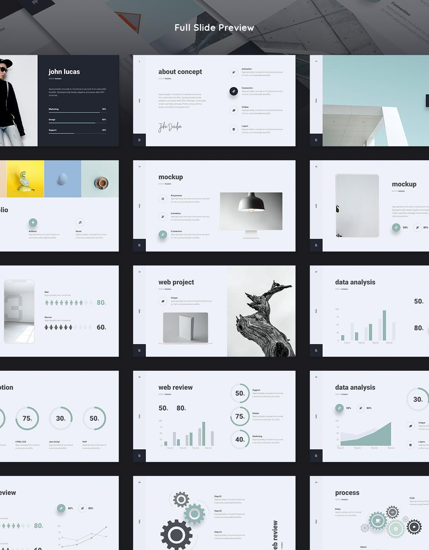 高端简约时尚高品质的多用途keynote幻灯片演示模板(key) vigo-minimal-presentation-template-key