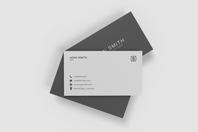 简约时尚高端清新好用的房地产名片设计VI样机展示模型mockups minimalist-business-cards-mockup