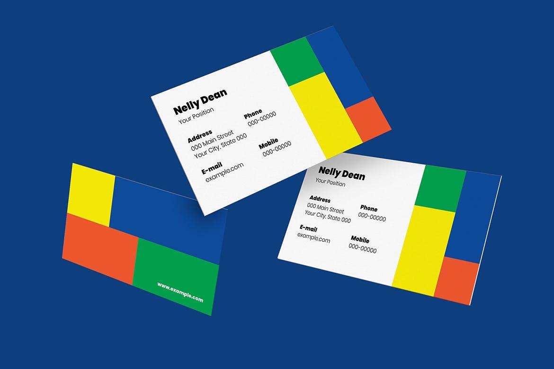 10个高品质的抽象几何图形名片设计模板集合(AI,PSD) 10-geometric-business-cards-bundle