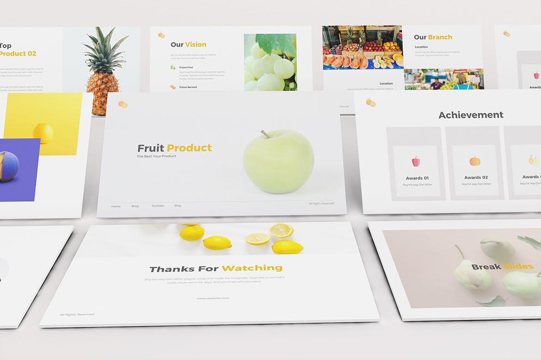 简约时尚高端清新多用途的高品质keynote幻灯片演示模板(key) fruit-store-keynote-template
