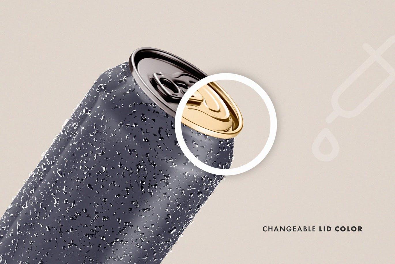 高品质的饮料易拉罐啤酒包装设计VI样机展示模型mockups drink-can-mockup