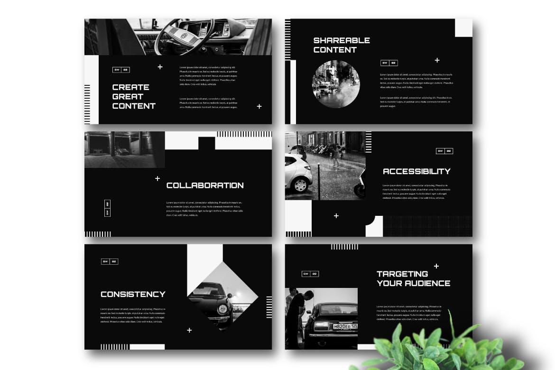 个性苹果幻灯片黑色企业演示模板设计感很强的优秀PPT模板下载(keynote)bhaique-black-and-white-keynote-template