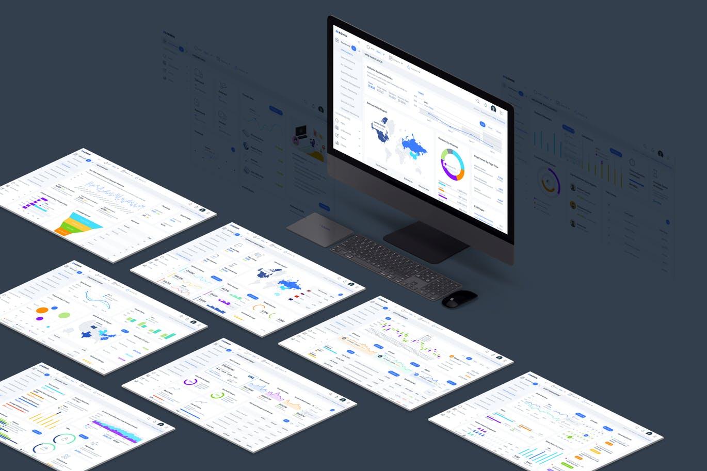 时尚高端专业高品质数据分析统计后台仪表盘设计UI KITS[Sketch] twn-admin-dashboard-ui-kit