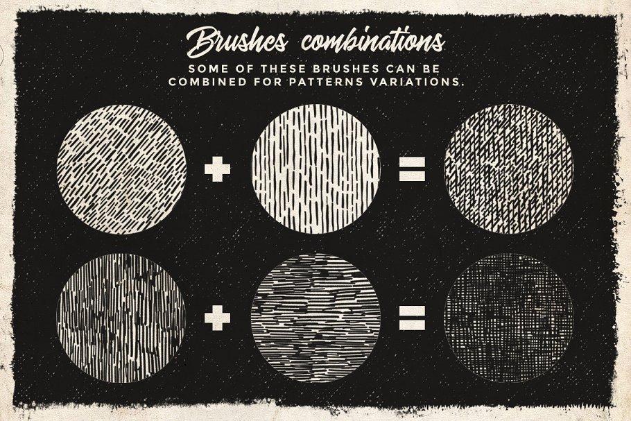 27种复古半色调无缝图案Procreate笔刷 Pattern Procreate brushes 1924475