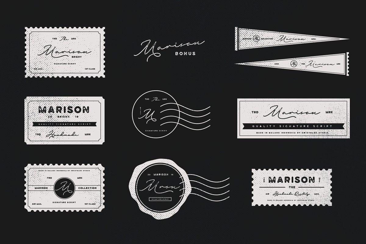 114多种不同复古风格的艺术现代字套装 Whole Store Bundle