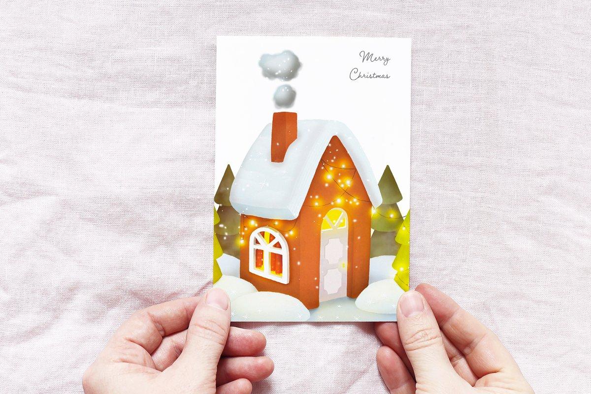 10个手绘插画温馨家庭建筑卡通房子插画合集HOUSE ILLUSTRATIONS SET - 2361661