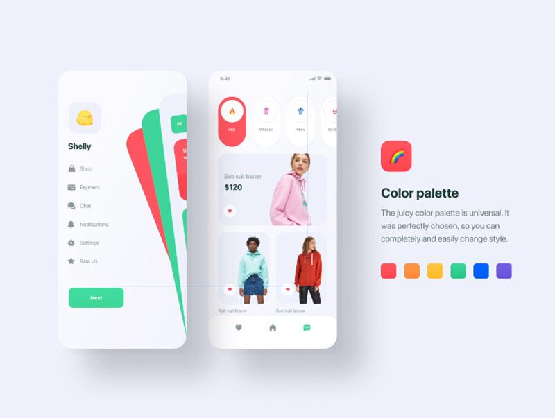 时尚多彩的社交分享娱乐图片APP UI套件Sketch和figma UIscux_20201238